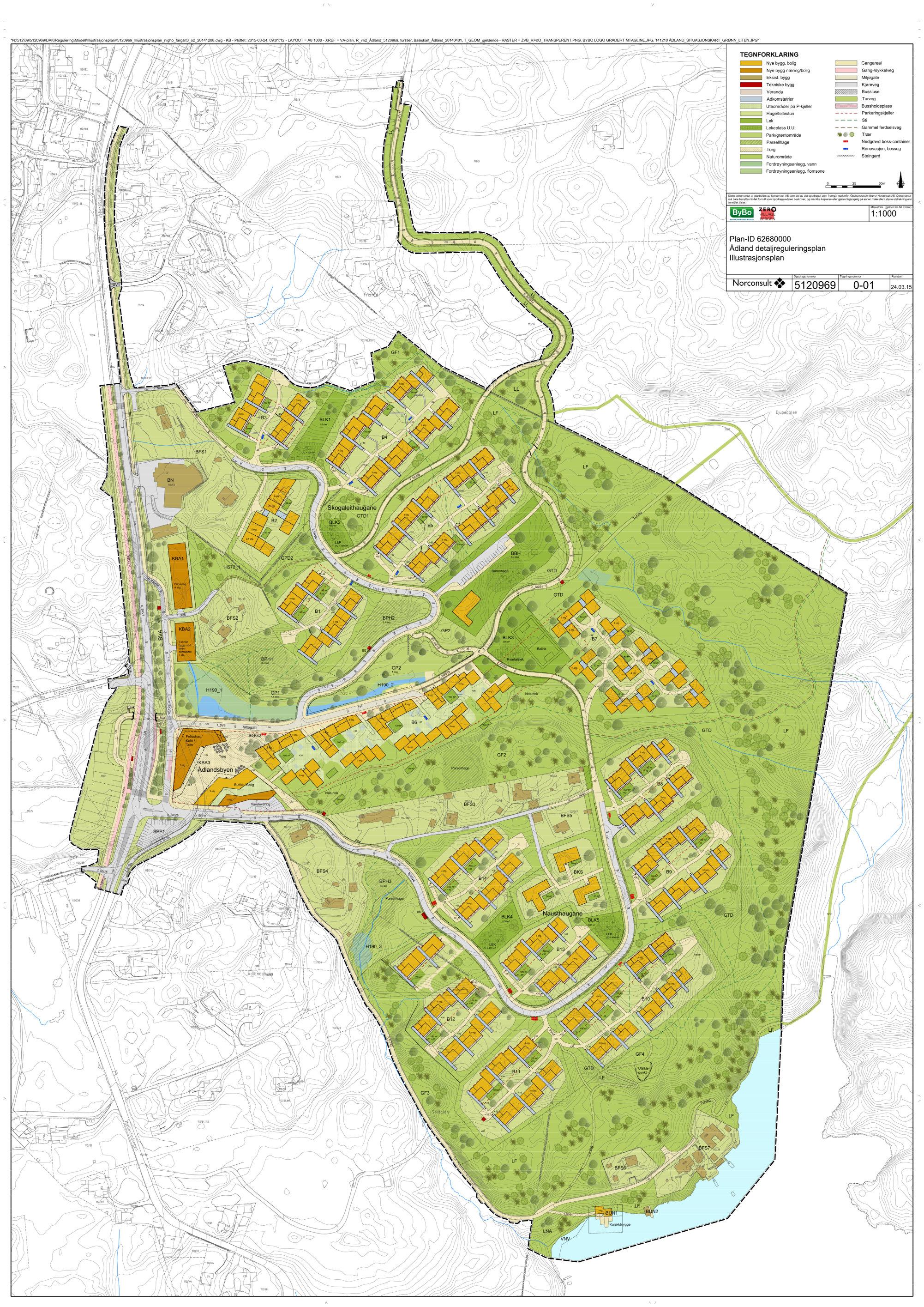 Illustrasjonsplan av planområdet (Snøhetta)
